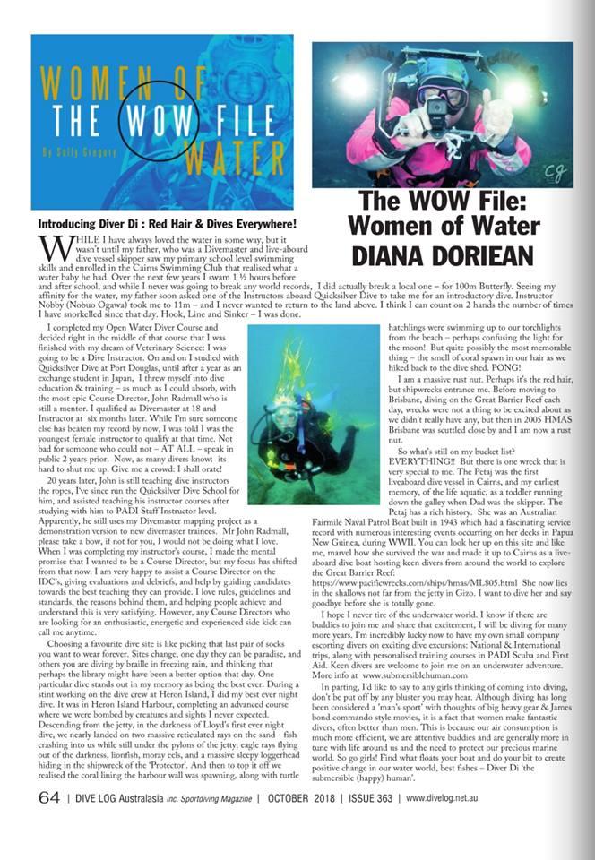 WoW October 2018 - Diana Doreian